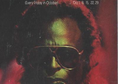 5 weeks for Miles Davis front