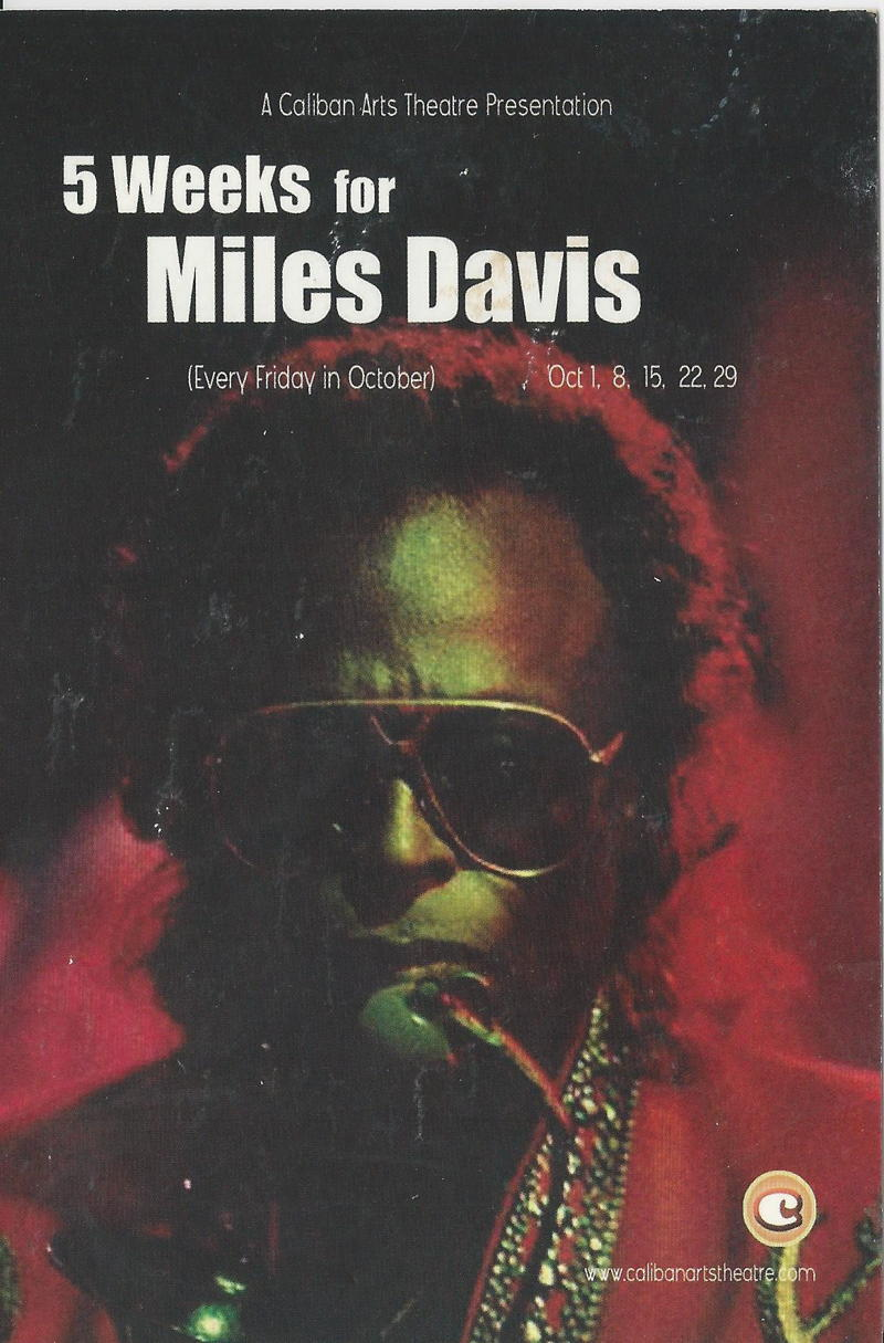 5 weeks for Miles Davis front