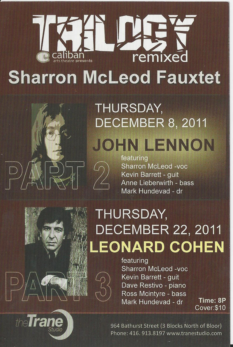 Caliban Arts theatre presents Sharron McLeod Fauxtet