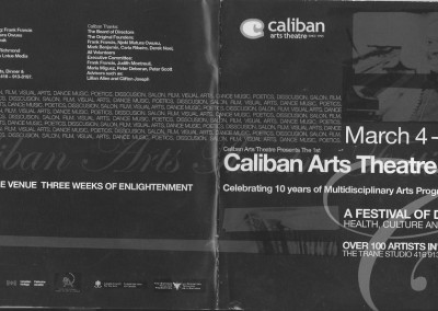 Caliban arts theatre art festival front