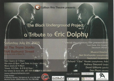 a tribute to eric dolphy front