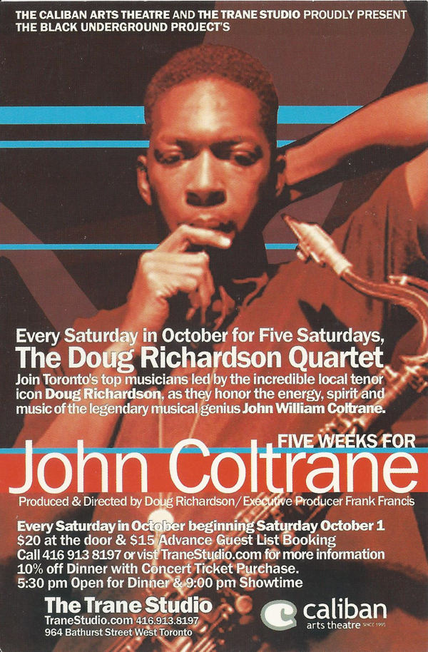 five weeks for john coltrane front
