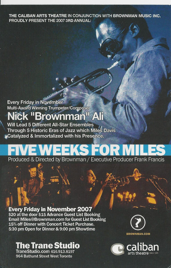 five weeks for miles front