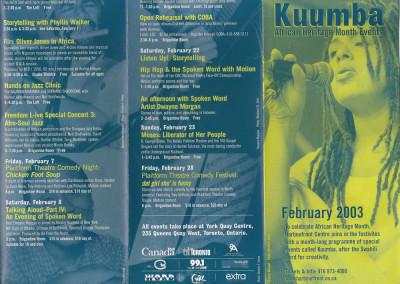 kuumba african heritage month event
